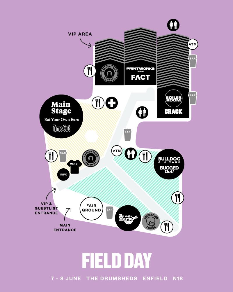 Field Day Map Festival map   Field Day Festival 2019